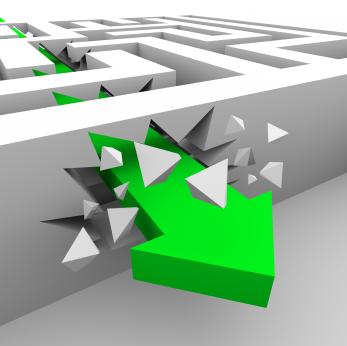 Green Arrow Breaks Through Maze Walls